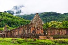 Santuário da pedra de Wat Phu Imagens de Stock
