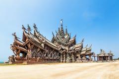 Santuário da verdade em Pattaya, Tailândia Imagens de Stock