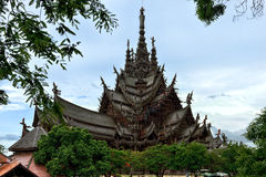 Santuário da verdade, Pattaya Foto de Stock Royalty Free