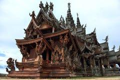 Santuário da verdade, Pattaya Imagens de Stock Royalty Free