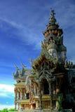 Santuário da verdade Pattaya fotografia de stock royalty free