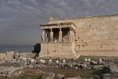 Santuário de Athena Polias na acrópole foto de stock