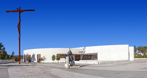 Santuário de Fatima, Portugal Basílica da maioria de trindade santamente Fotos de Stock
