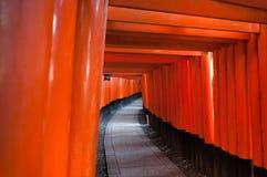 Santuário de Fushimi Inari em Kyoto, Japão Fotografia de Stock