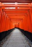 Santuário de Fushimi Inari, Kyoto, Japão Foto de Stock