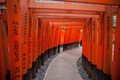 Santuário de Fushimi Inari, Kyoto, Japão fotos de stock royalty free