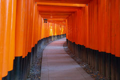 Santuário de Fushimi Inari Taisha em Kyoto Fotografia de Stock Royalty Free