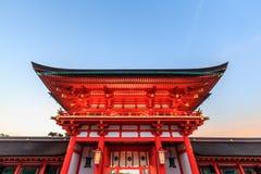 Santuário de Fushimi Inari Taisha em Kyoto imagens de stock