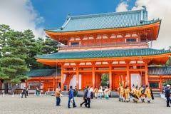 Santuário de Heian Jingu em Kyoto, Japão fotografia de stock