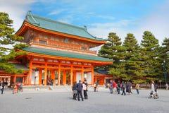 Santuário de Heian-Jingu em Kyoto, Japão imagens de stock