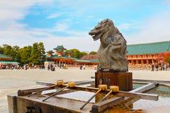 Santuário de Heian-Jingu em Kyoto, Japão Fotos de Stock
