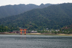Santuário de Itsukushima na ilha de Miyajima Fotos de Stock