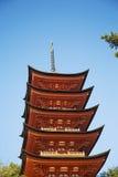 Santuário de Itsukushima na ilha de Miyajima, Japão foto de stock