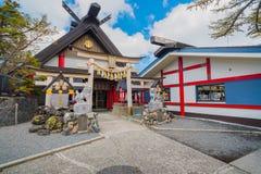 Santuário de Komitake na linha 5a estação de Fuji Subaru imagens de stock