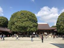Santuário de Meiji Jingu fotografia de stock