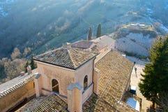 Santuário de Mentorella, Lazio, Itália Foto de Stock Royalty Free