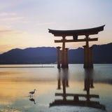 Santuário de Miyajima fotografia de stock
