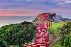 Santuário de Motonosumi em Japão imagens de stock