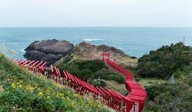 Santuário de Motonosumi no nagato imagens de stock royalty free