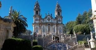 Sanctuary of Our Lady of Remedios in Lamego ,Portugal. Santuário de Nossa Senhora dos Remédios em Lamego, Portugal stock image
