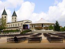 Santuário de nossa senhora em Medjugorje em Bósnia - Herzegovina Fotografia de Stock Royalty Free