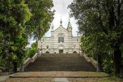 Santuário de Panaceia Signora di Montallegro em Rapallo Foto de Stock