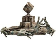 Santuário de pedra da fantasia ilustração stock