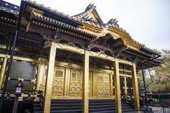 Santuário dourado de Toshogu no parque de Ueno, Tóquio - Japão fotos de stock royalty free