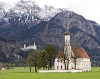 Santuário em Schwangau, Alemanha do St Coloman fotos de stock