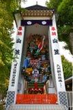 Santuário enorme de Kazariyama na exposição no santuário de Kushida, Fukuoka imagem de stock royalty free