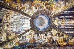 Santuário espanhol da história dos fresco de Jesus Atotonilco Mexico Imagem de Stock