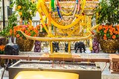 Santuário hindu dourado Imagens de Stock Royalty Free