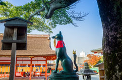 Santuário Japão de Fushimi Inari Taisha imagens de stock