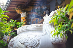 Santuário no templo budista Fotografia de Stock Royalty Free