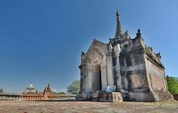 Santuário principal no terraço superior Templo de Mimalaung Kyaung Bagan myanmar Imagens de Stock