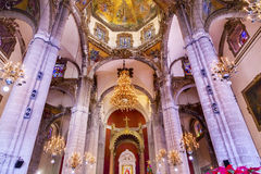 Santuário velho da basílica de Guadalupe Dome Mexico City Mexico fotografia de stock royalty free
