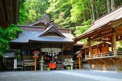Santuário xintoísmo de Arakura Sengen, Fujiyoshida, Japão imagem de stock royalty free