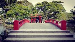 Santuário xintoísmo de Tsurugaoka Hachimangu em Japão Foto de Stock Royalty Free