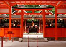 Santuário xintoísmo japonês Fotografia de Stock Royalty Free