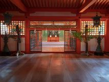 Santu?rio de Itsukushima, Jap?o fotografia de stock royalty free