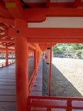 Santu?rio de Itsukushima, Jap?o foto de stock