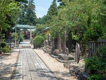 Santu?rio de Niihashisengen em Gotemba, Jap?o fotos de stock