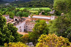 Santuari de Lluc修道院在马略卡,西班牙 库存照片