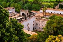 Монастырь в Мальорке, Испания Santuari de Lluc Стоковые Фотографии RF