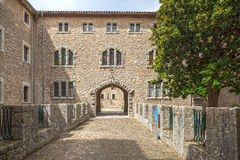 Santuari de Lluc - monastery in Majorca, Spain. Santuari de Lluc - monastery in Mallorca, Balearic Islands, Spain Royalty Free Stock Images