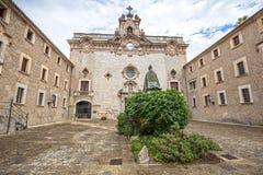 Santuari de Lluc - monastery in Majorca, Spain Stock Images