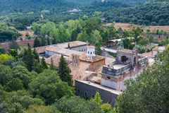 Santuari de Lluc in Serra de Tramuntana on Mallorca, Balearic Islands, Spain. Santuari de Lluc in Serra de Tramuntana on Mallorca, Balearic Islands Stock Photos