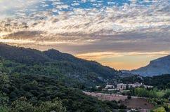 Santuari de Lluc at sunset, Majorca, Balearic Islands, Spain. Santuari de Lluc at sunset - monastery in Majorca, Balearic Islands, Spain Stock Image