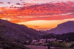 Santuari de Lluc at sunset, Majorca, Balearic Islands, Spain Royalty Free Stock Image