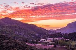 Santuari de Lluc at sunset, Majorca, Balearic Islands, Spain Royalty Free Stock Photography